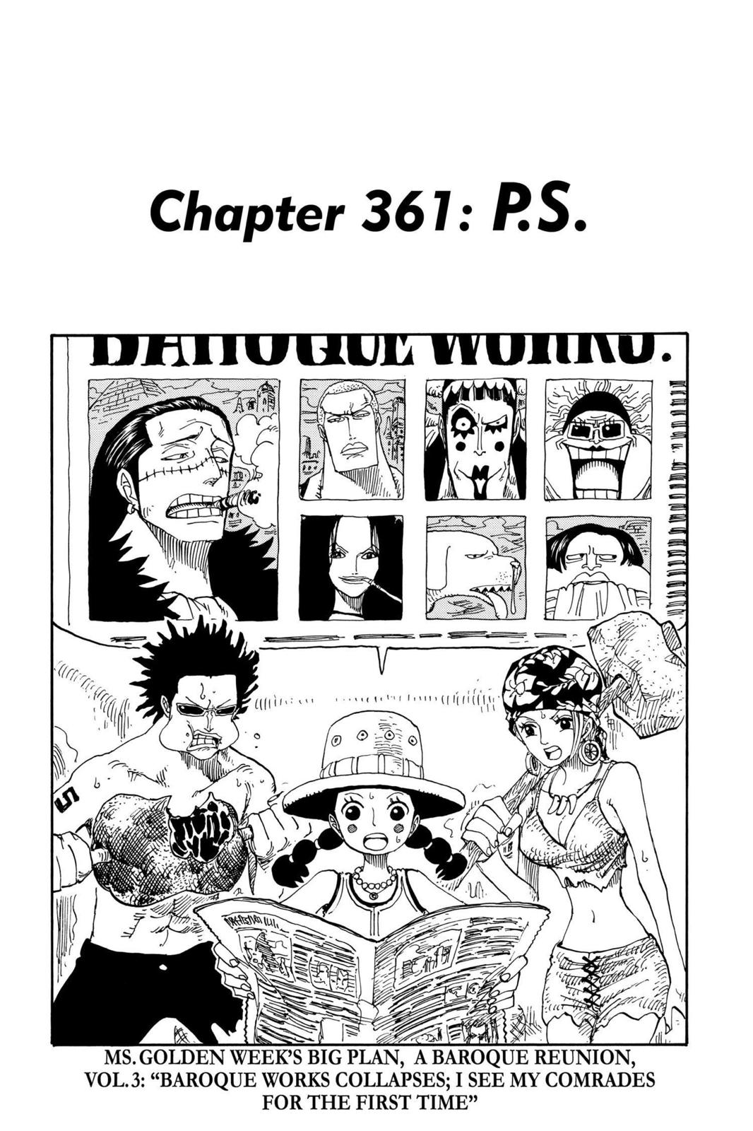 One Piece, Chapter 361 image 001