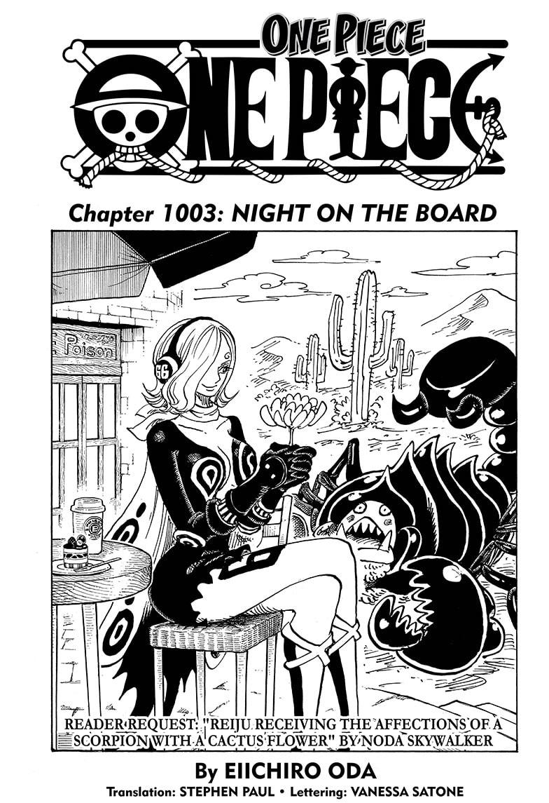 One Piece, Chapter 1003 image 001