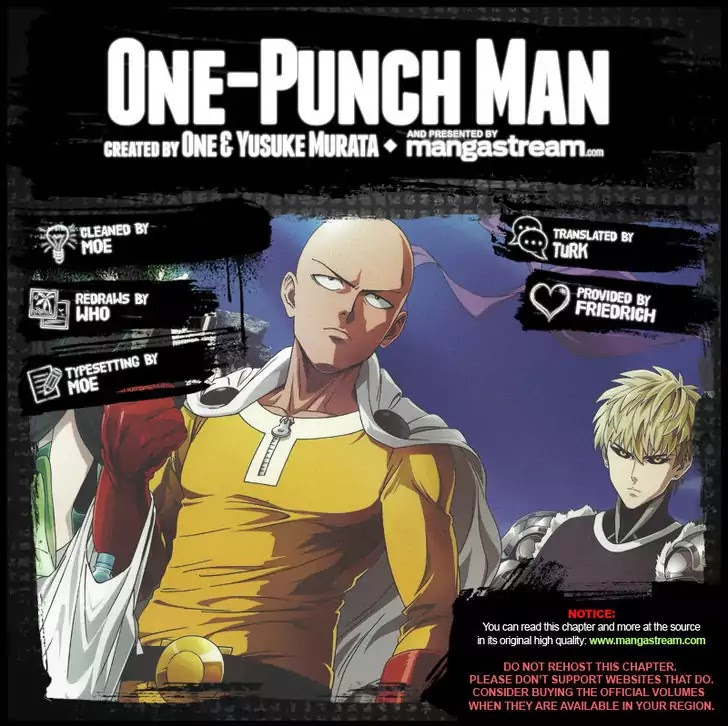 One Punch Man, Chapter Onepunch-Man 62.1 image 001