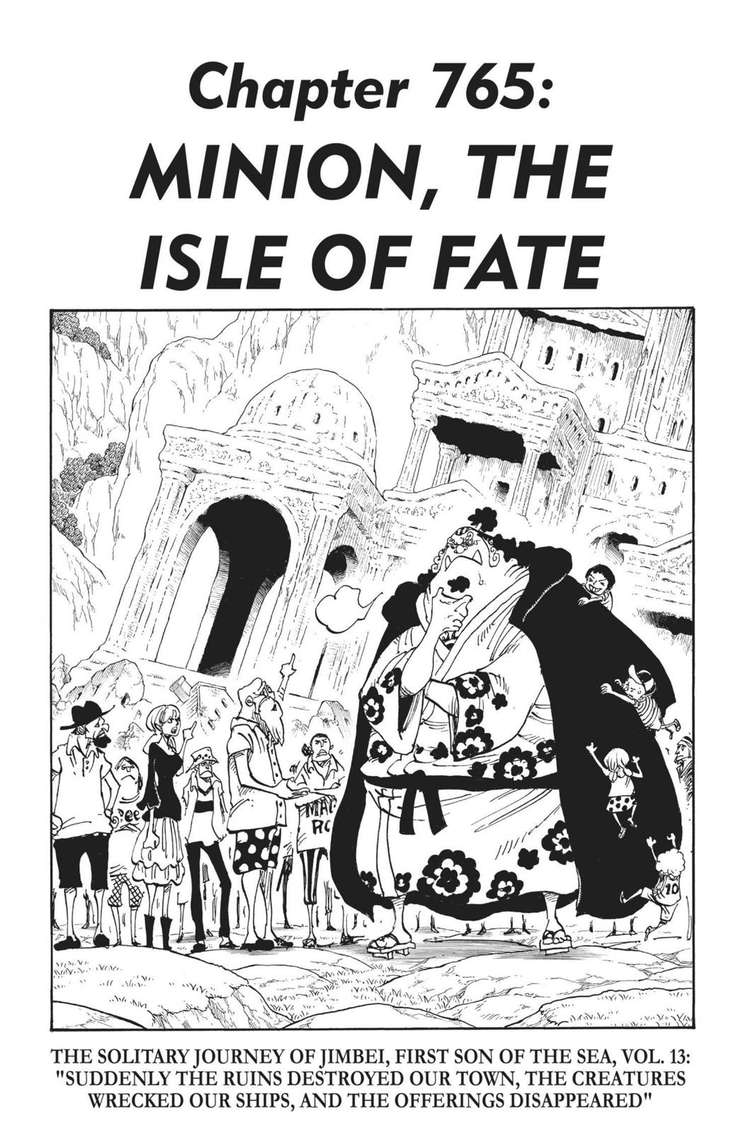 One Piece, Chapter 765 image 001