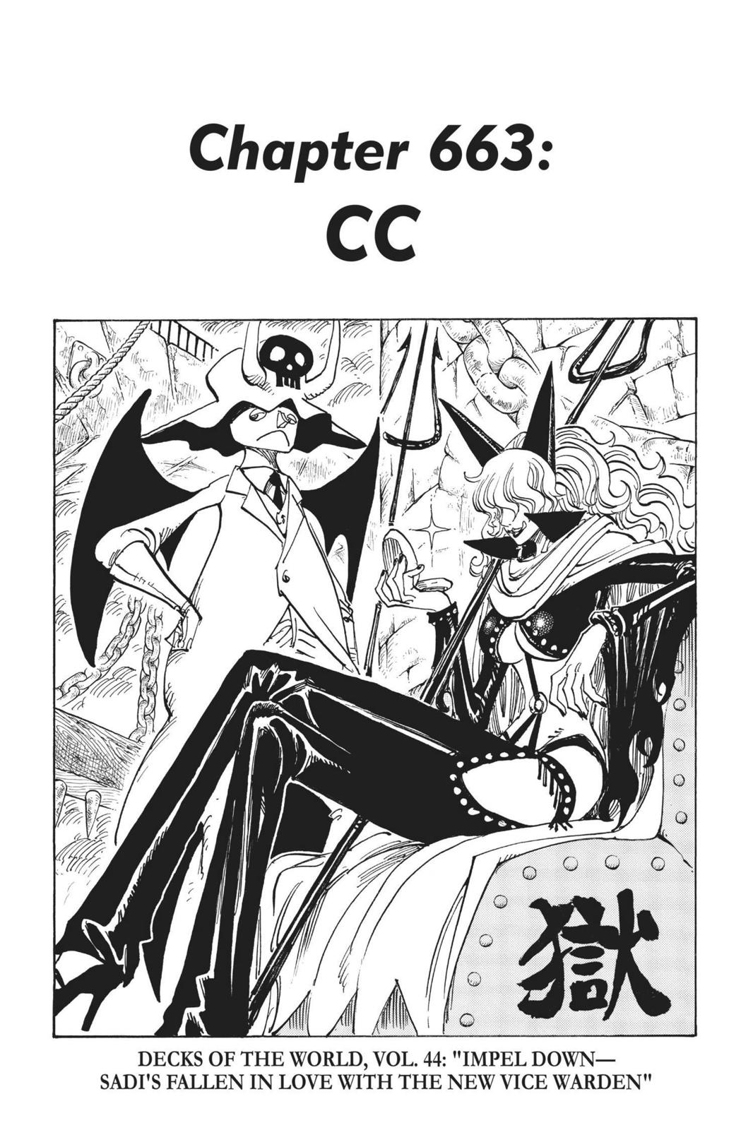One Piece, Chapter 663 image 001