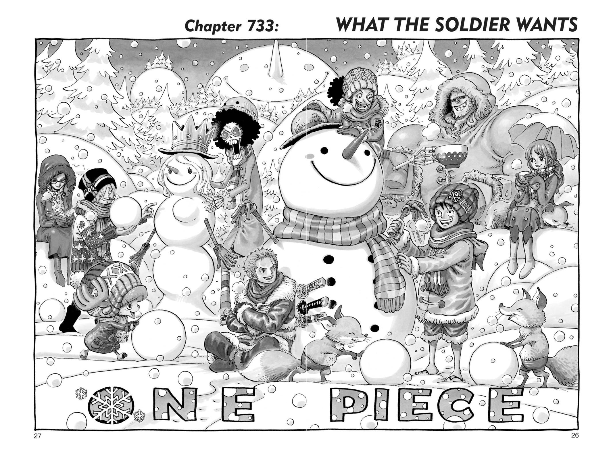 One Piece, Chapter 733 image 001