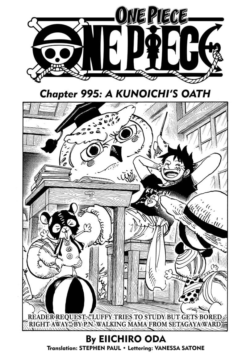 One Piece, Chapter 995 image 001