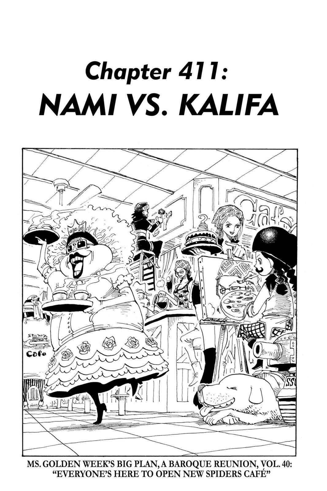 One Piece, Chapter 411 image 001