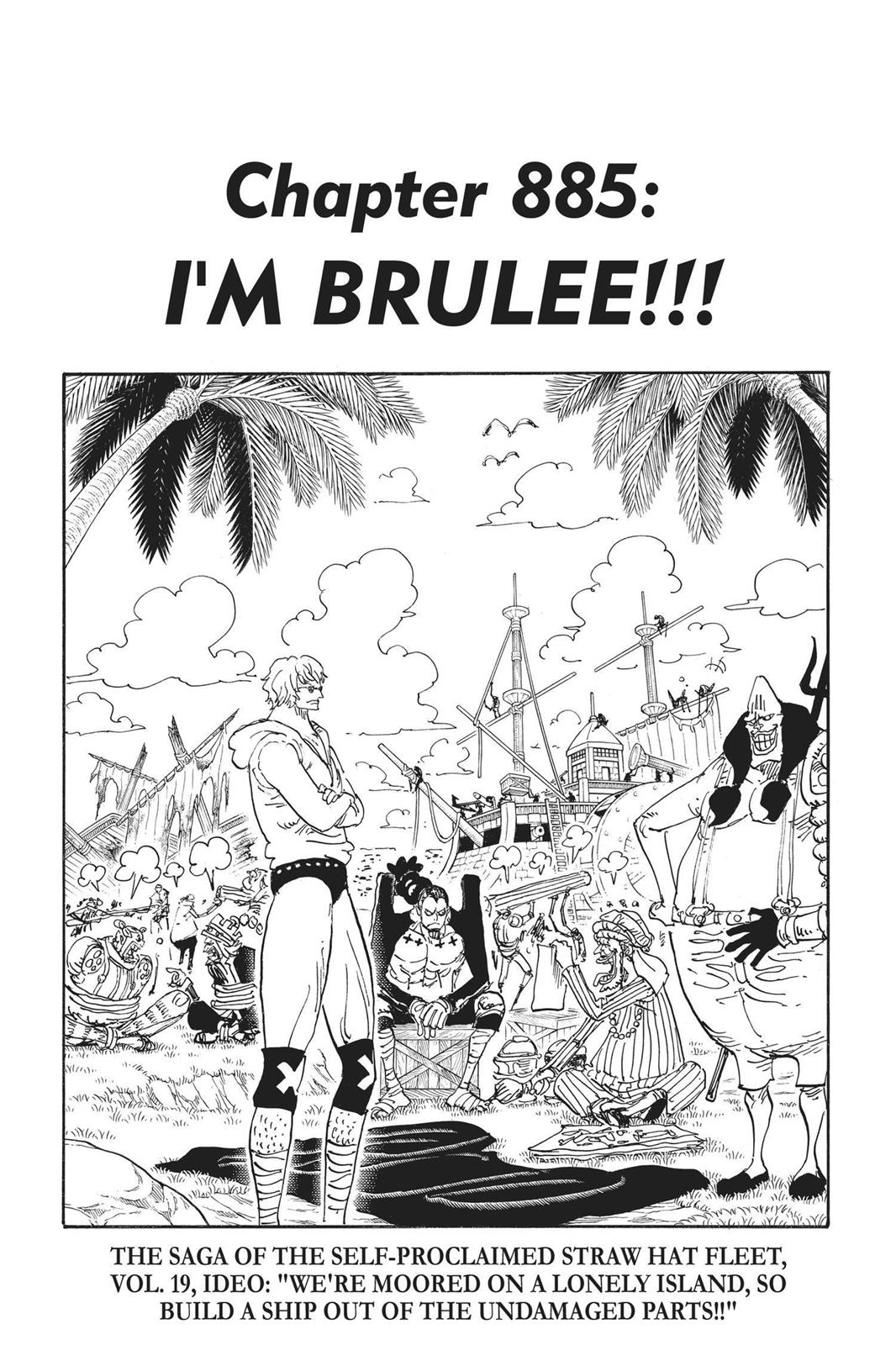 One Piece, Chapter 885 image 001