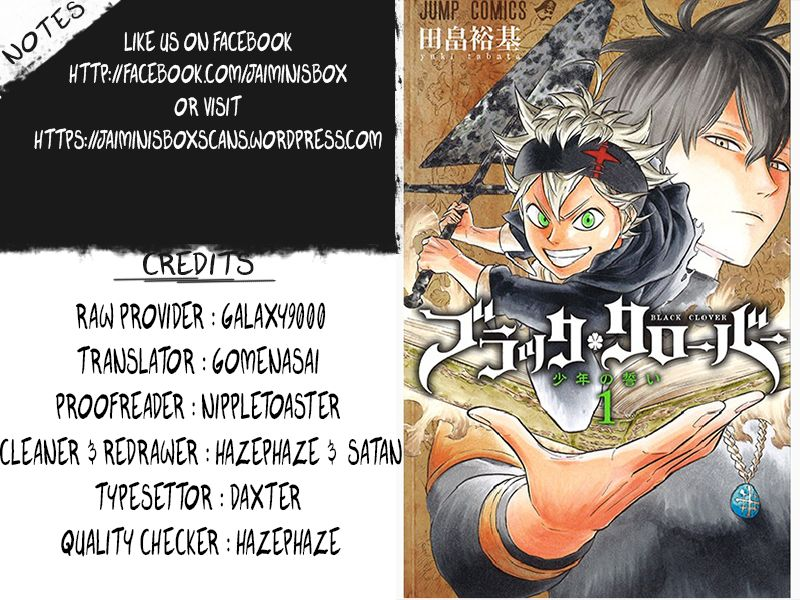 Black Clover, Chapter 15 The Three Of Us image 020