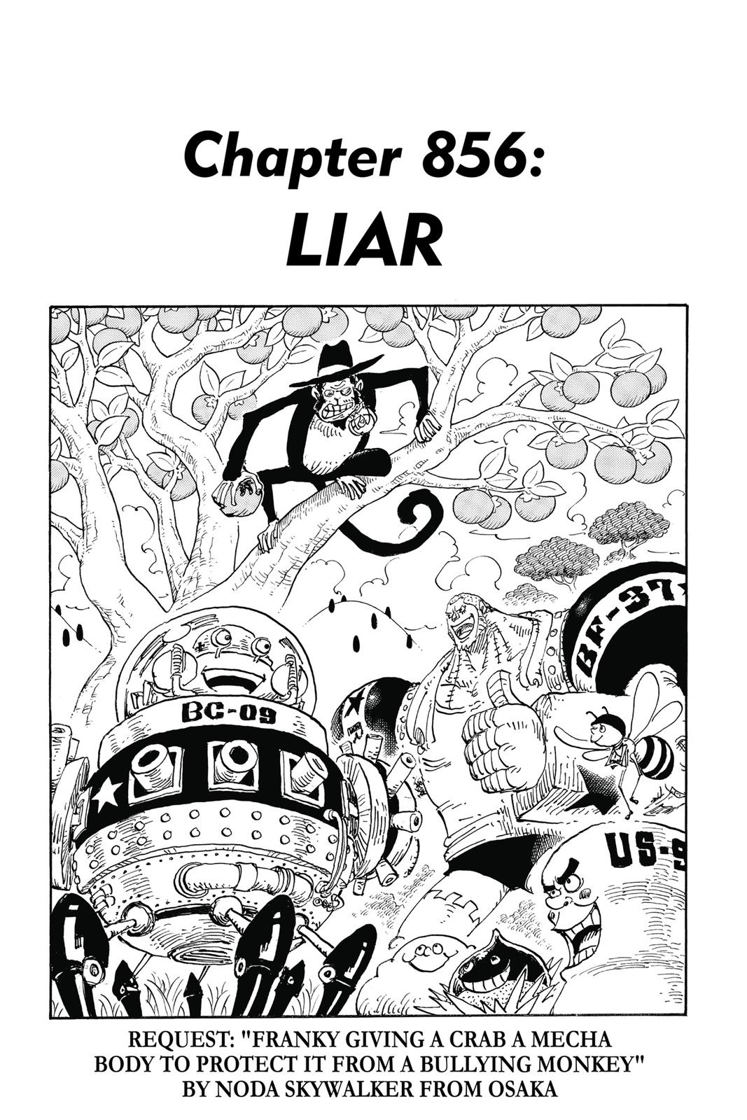 One Piece, Chapter 856 image 001