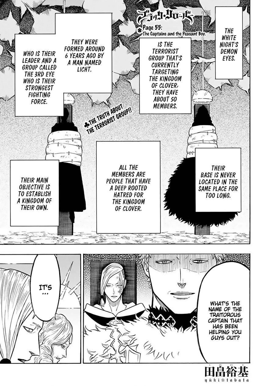Black Clover, Chapter 55 The Captains and the Peasant Boy image 002
