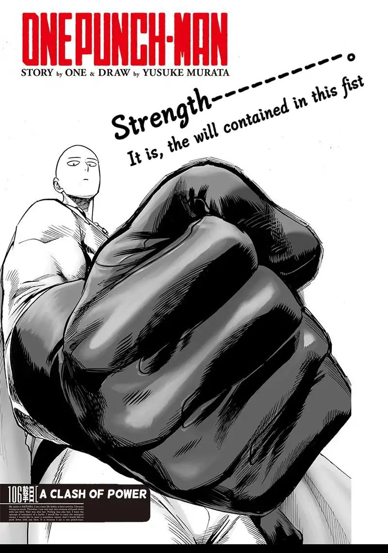 One Punch Man, Chapter Onepunch-Man 106 image 001