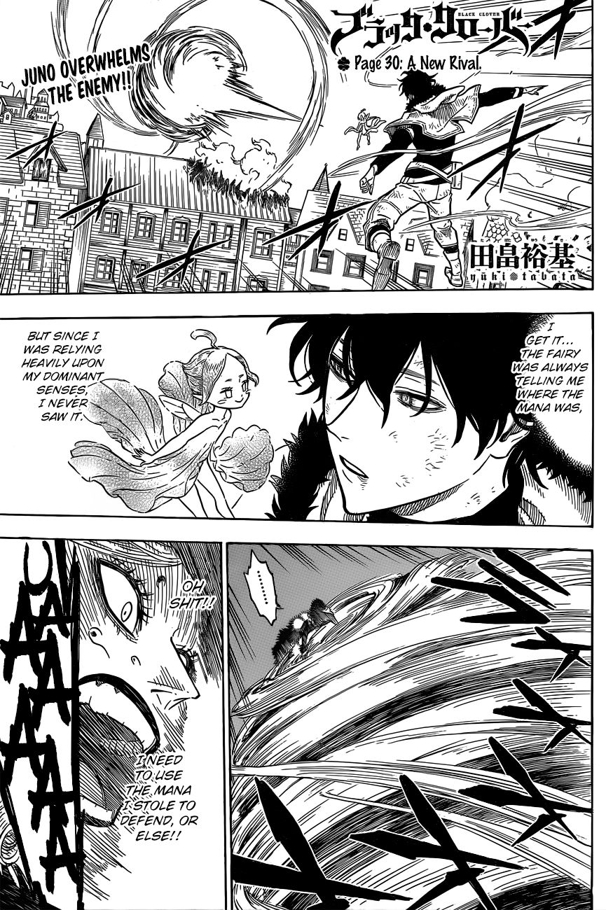 Black Clover, Chapter 30 A New Rival image 002