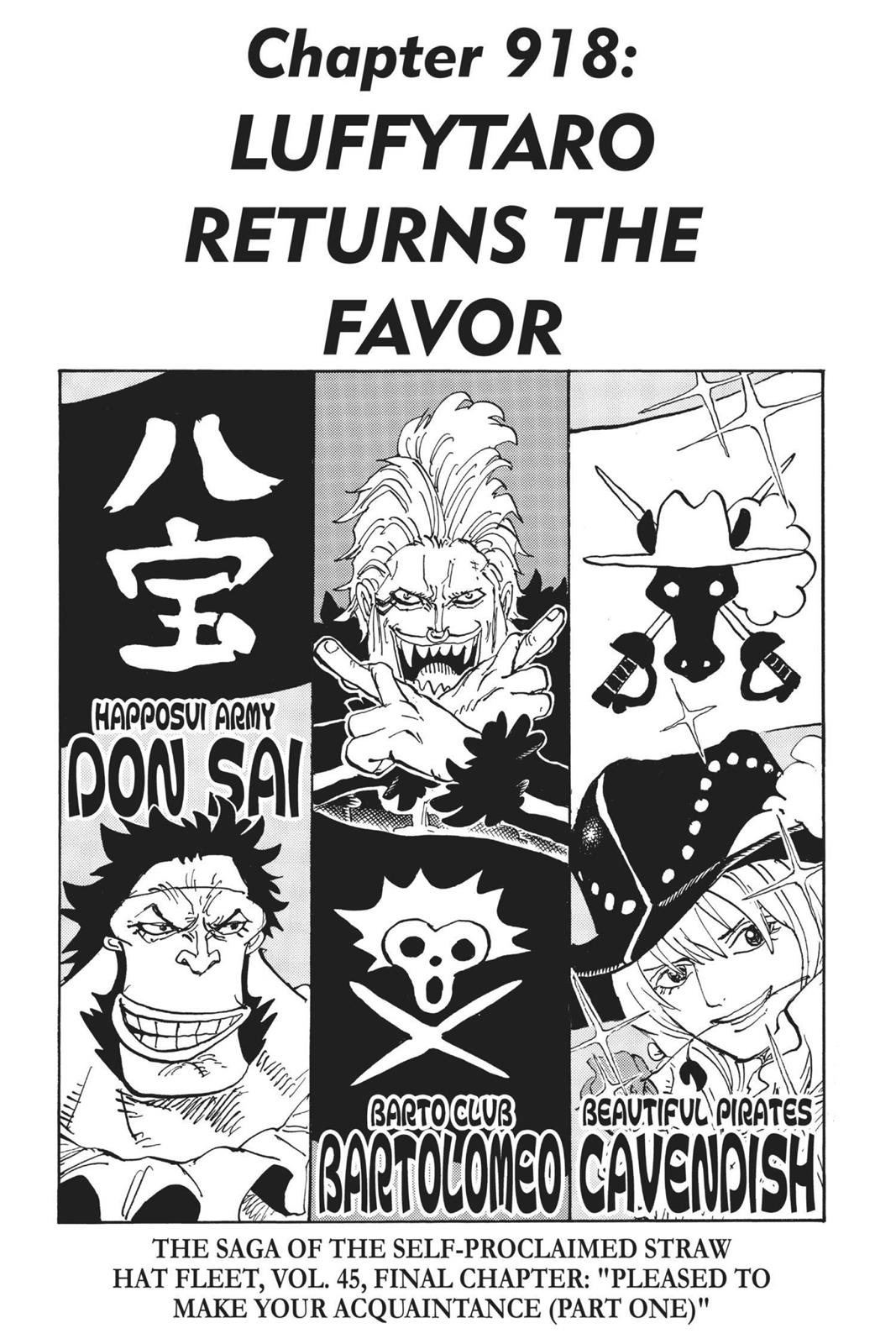 One Piece, Chapter 918 image 001