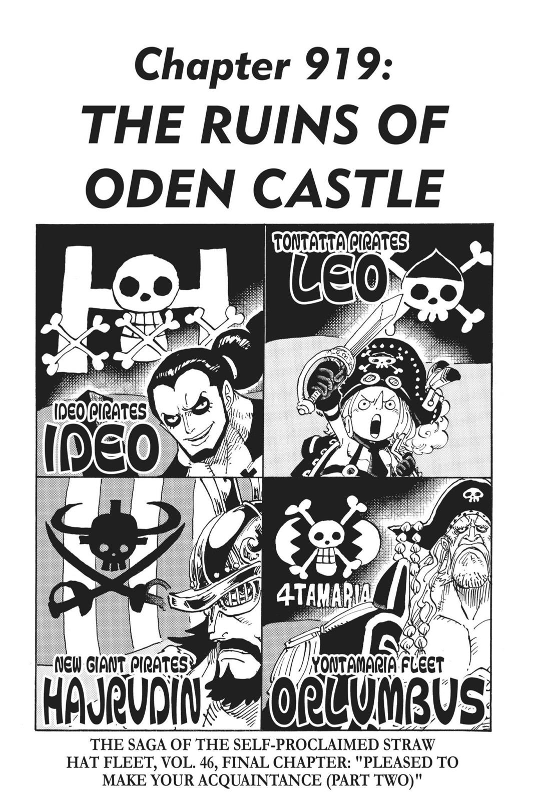 One Piece, Chapter 919 image 001