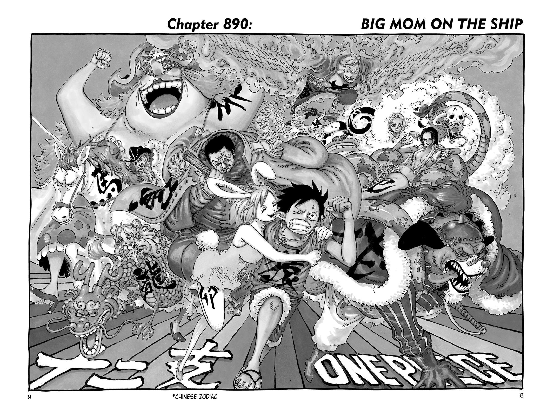 One Piece, Chapter 890 image 008
