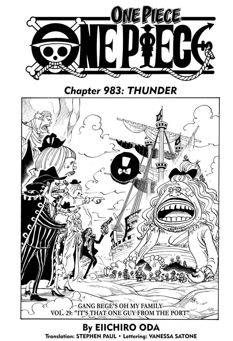 One Piece, Chapter 983 image 001