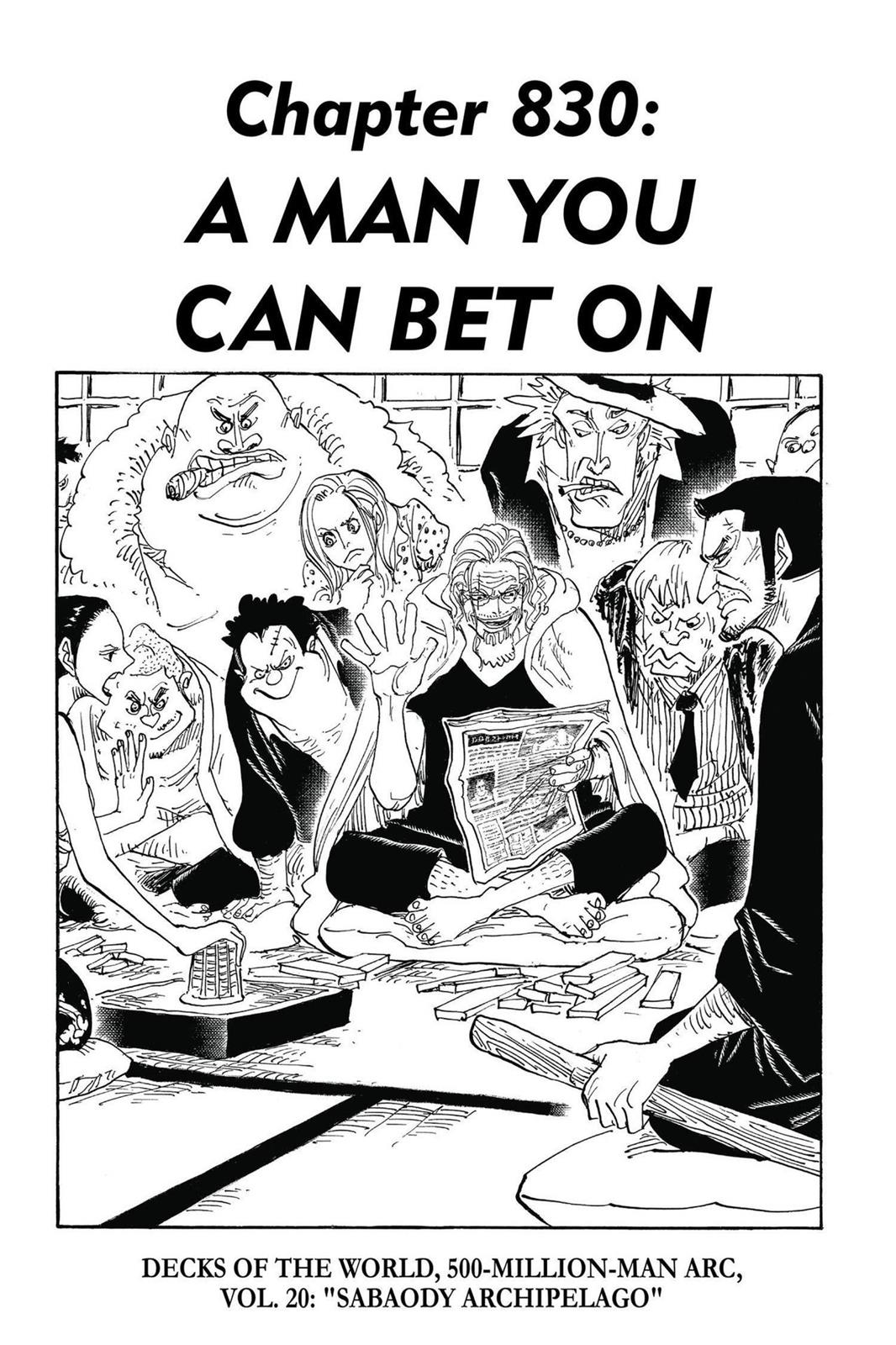One Piece, Chapter 830 image 001