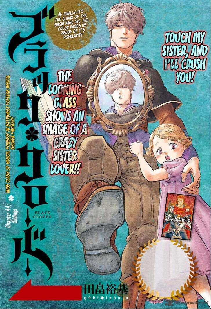 Black Clover, Chapter 44 Siblings image 001