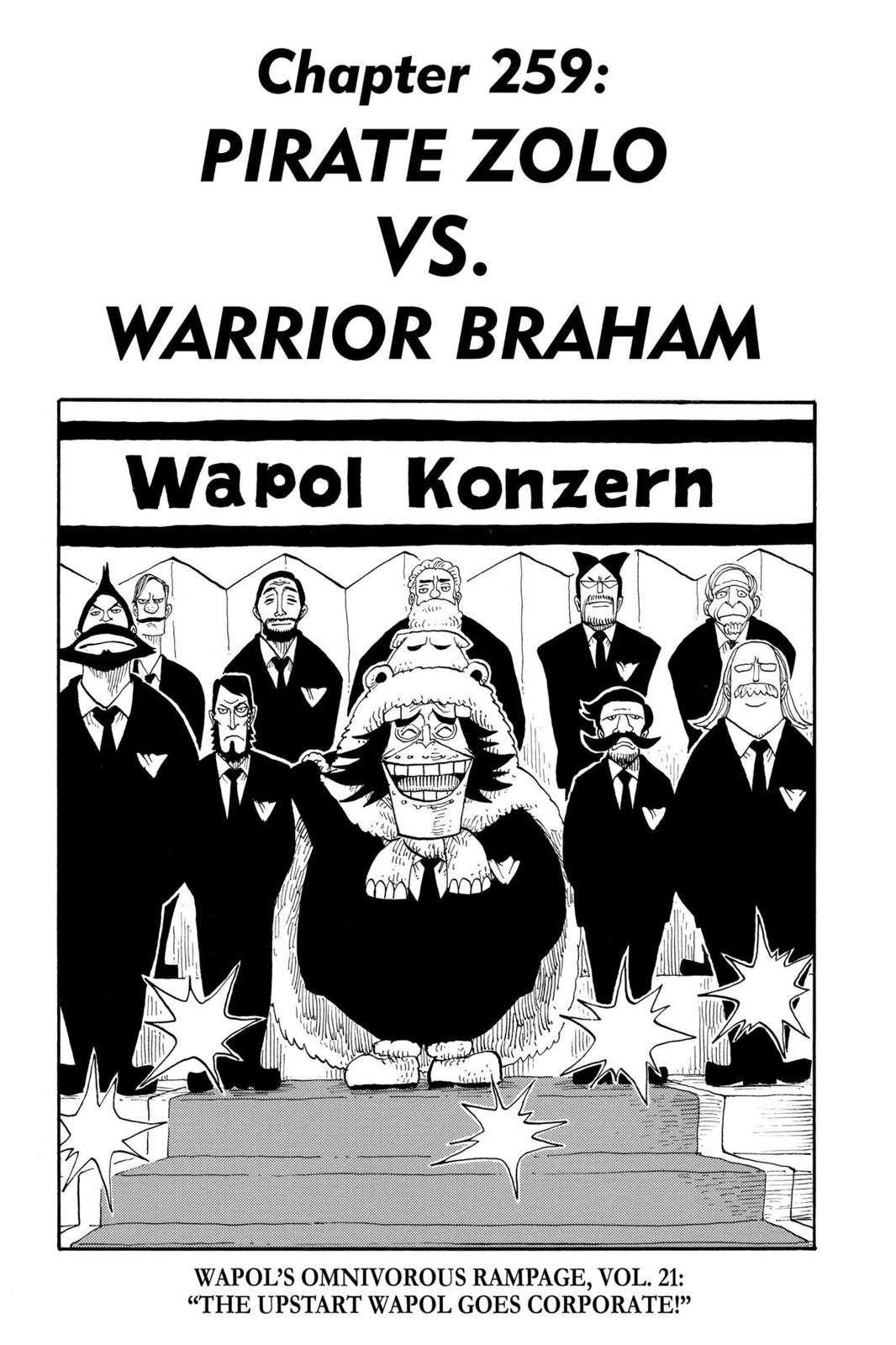 One Piece, Chapter 259 image 001