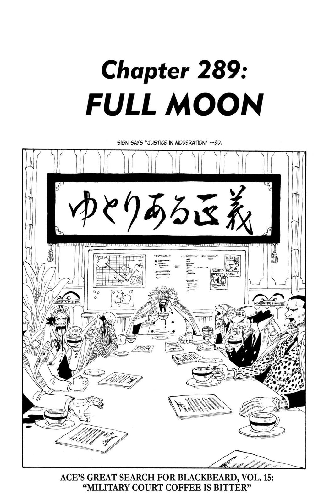 One Piece, Chapter 289 image 001