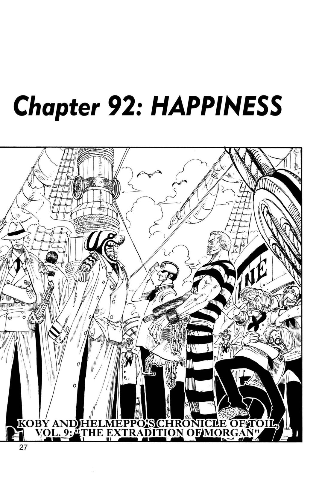 One Piece, Chapter 92 image 001