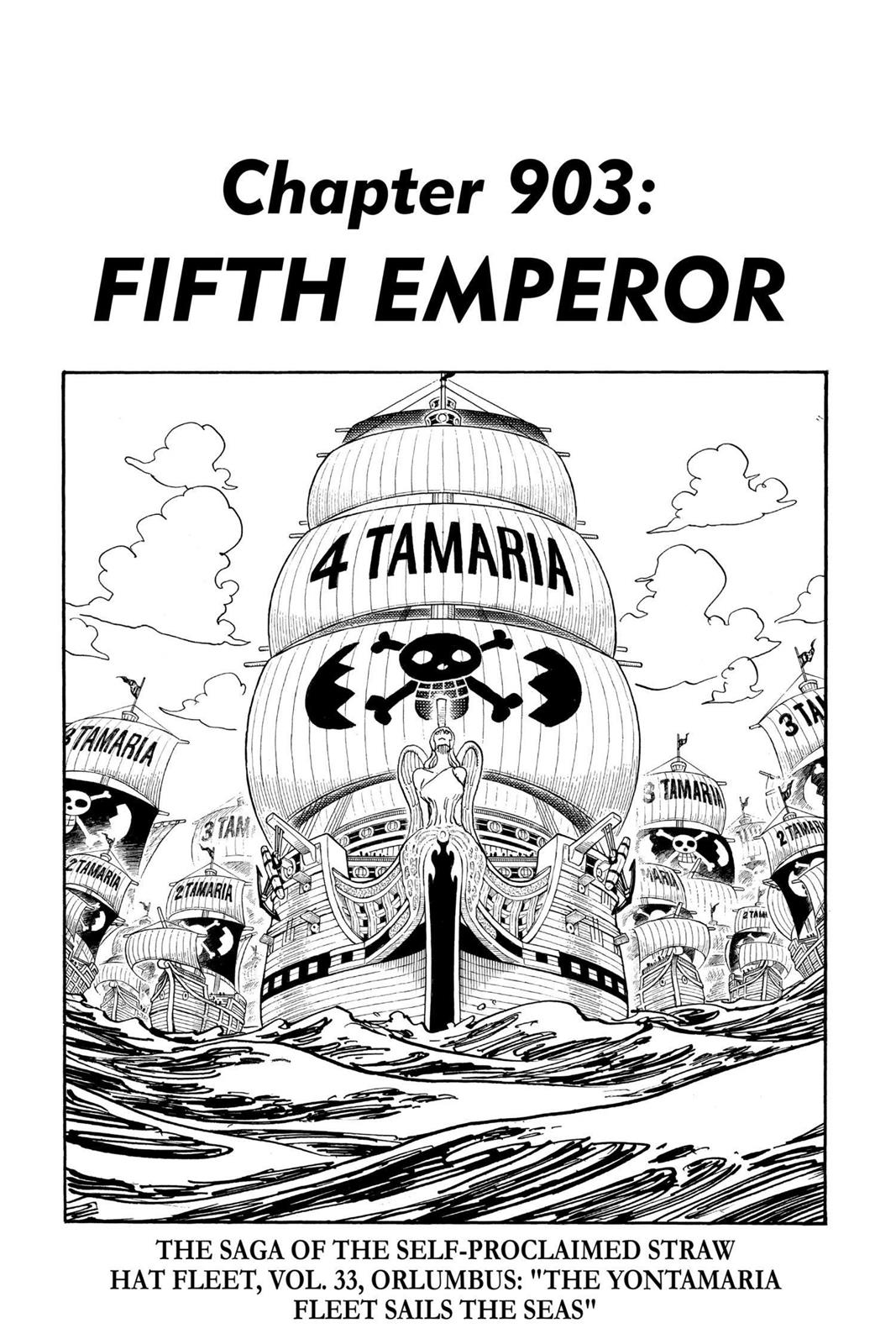 One Piece, Chapter 903 image 001