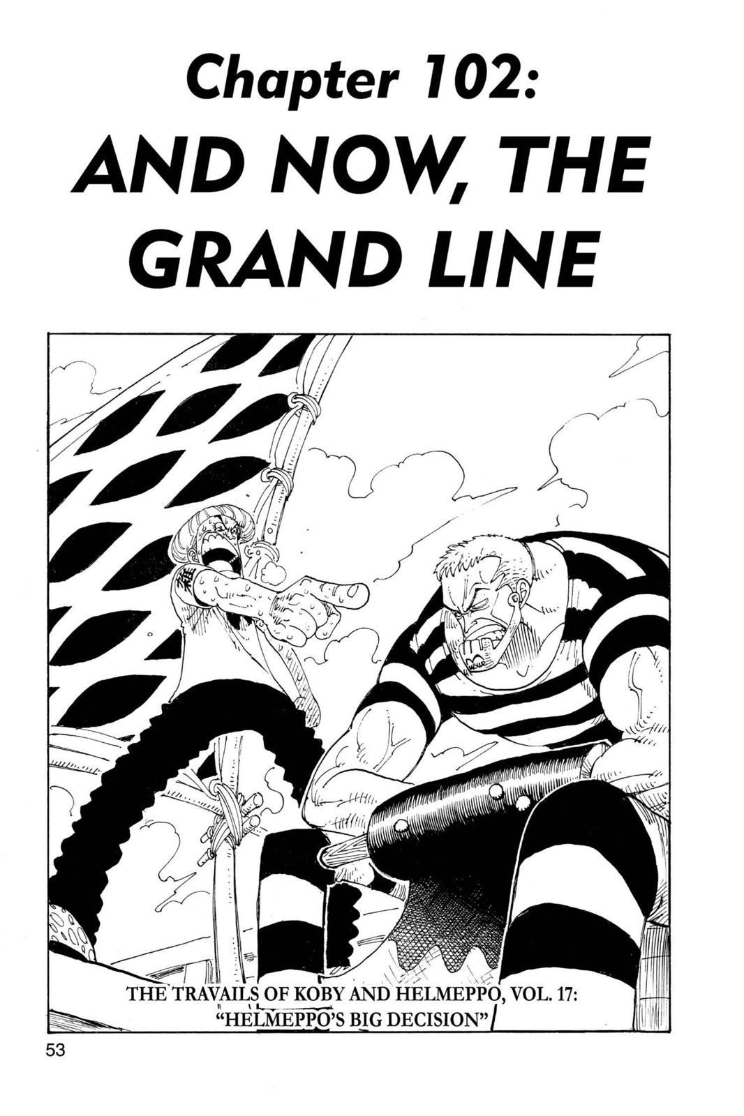 One Piece, Chapter 102 image 001