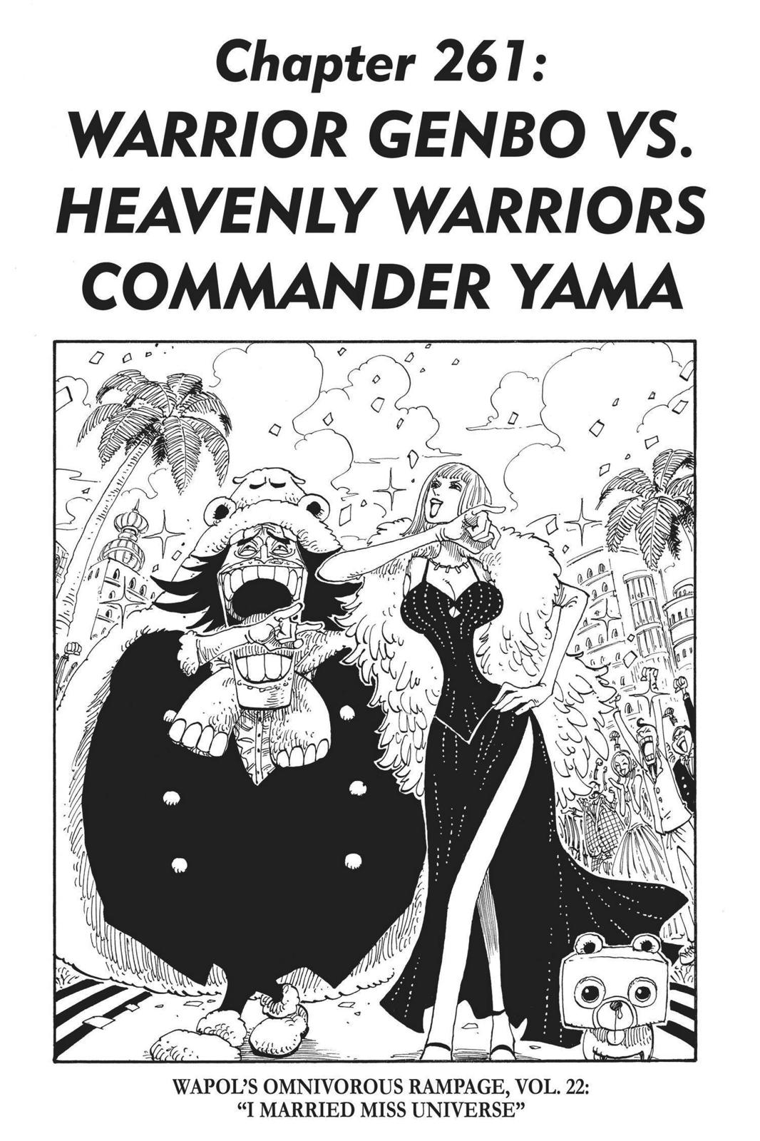 One Piece, Chapter 261 image 001