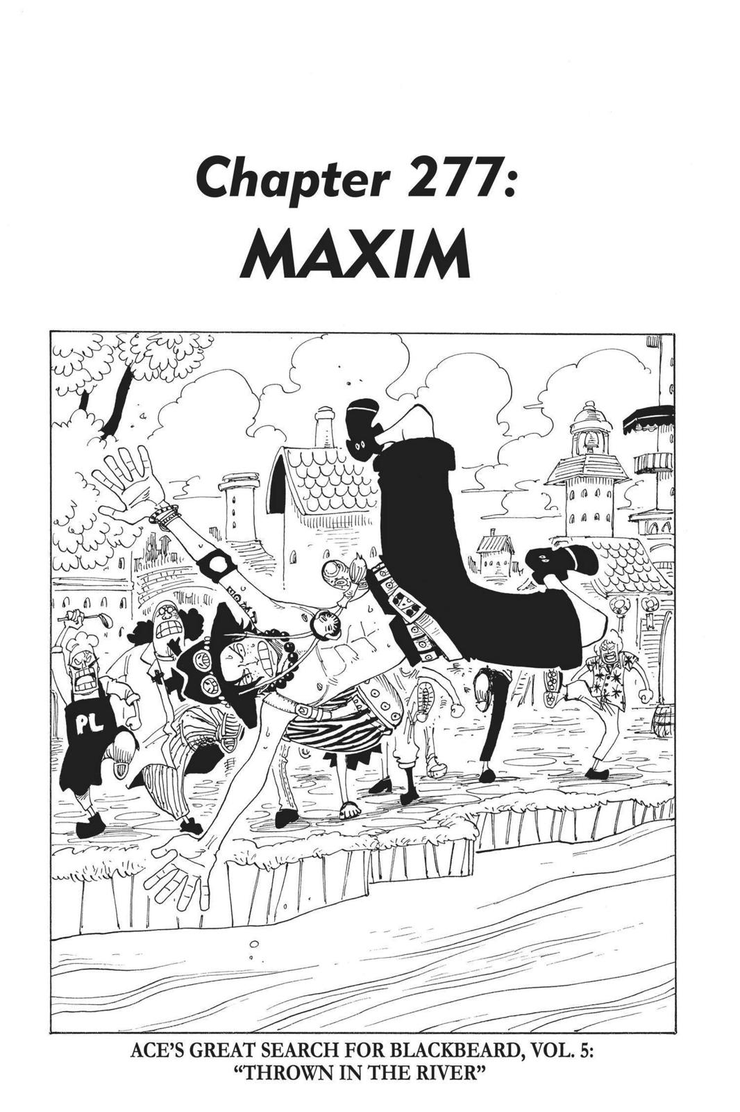 One Piece, Chapter 277 image 001