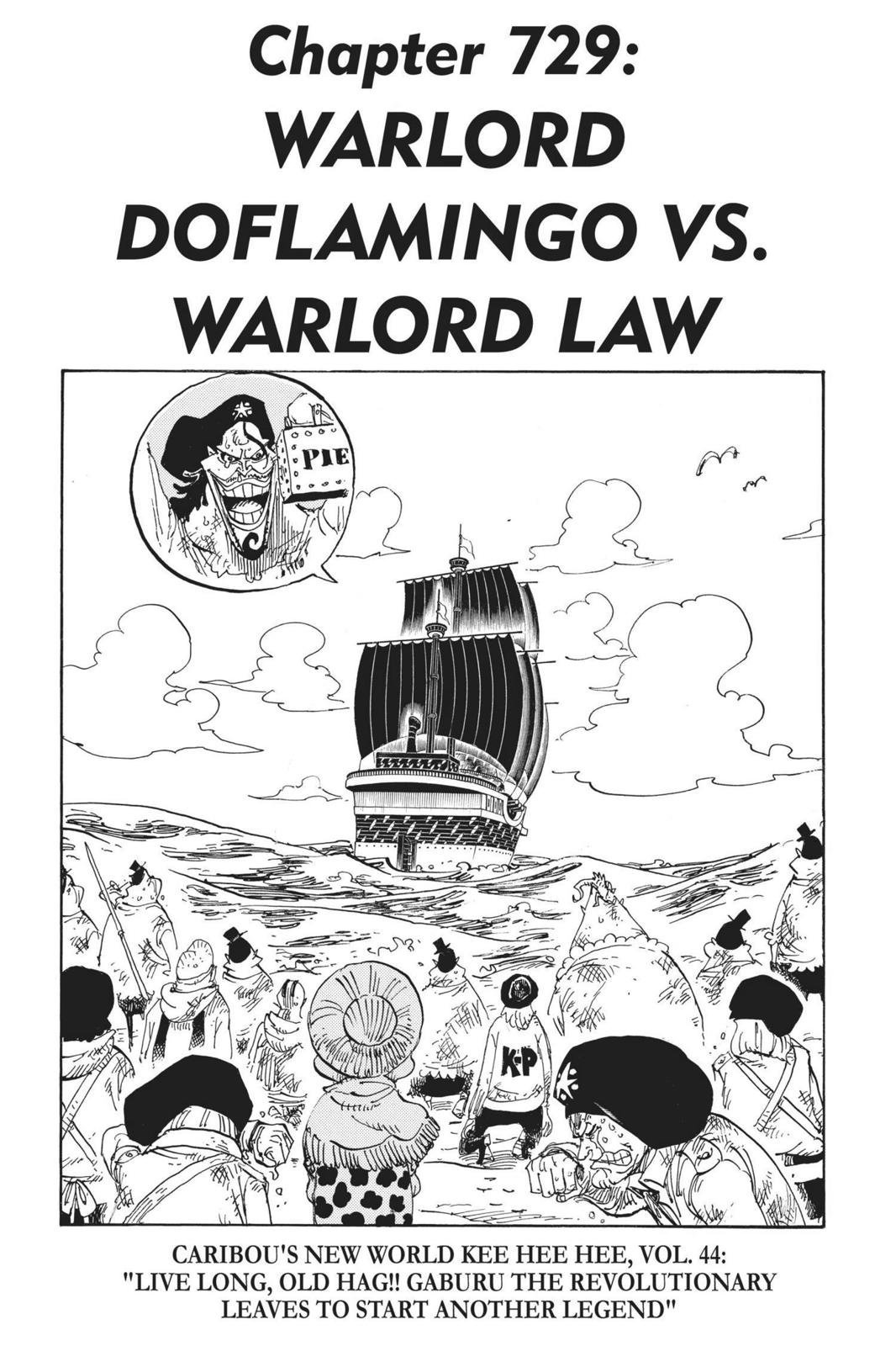One Piece, Chapter 729 image 001