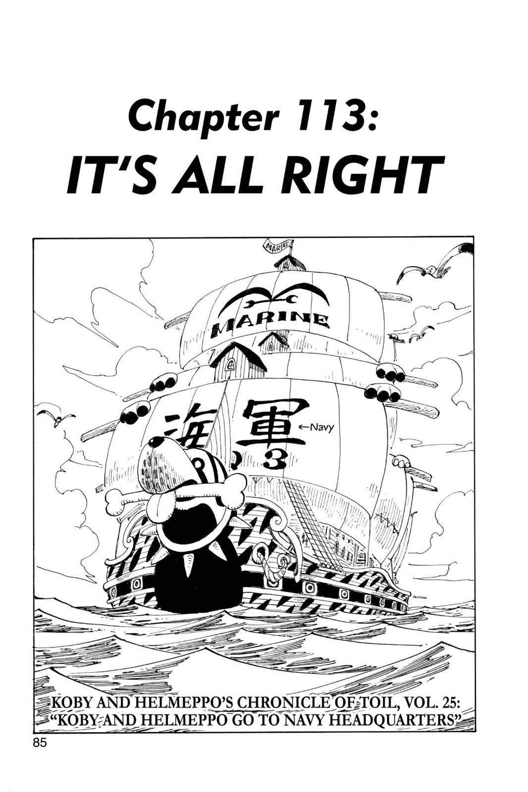 One Piece, Chapter 113 image 001