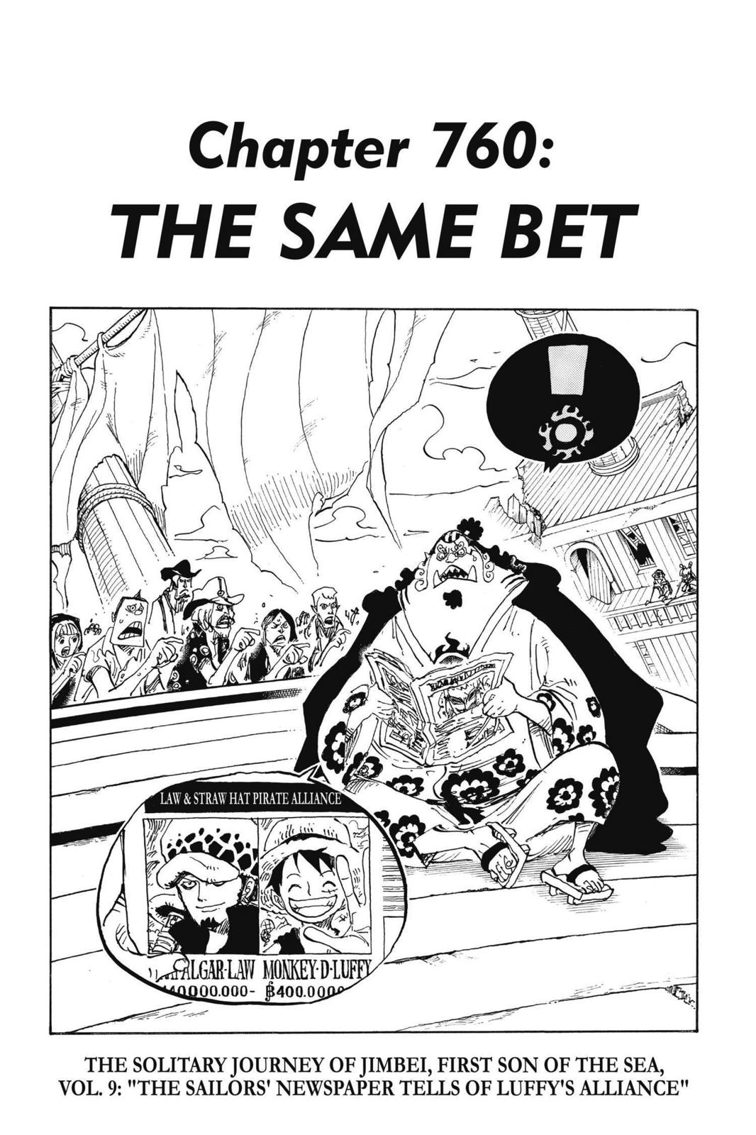 One Piece, Chapter 760 image 001