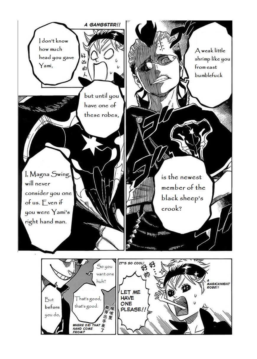 Black Clover, Chapter 4 The black sheep's crook image 008