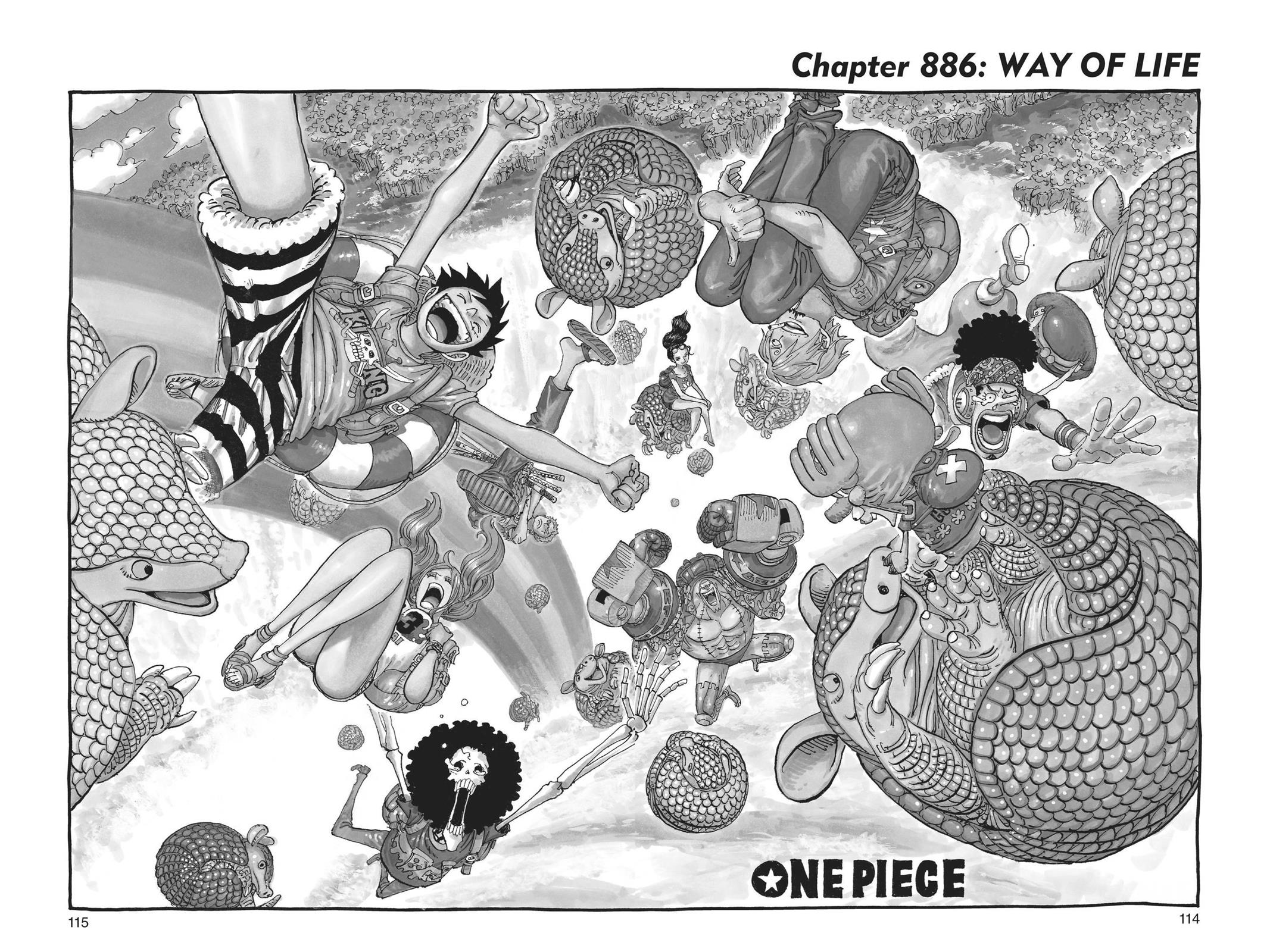 One Piece, Chapter 886 image 001
