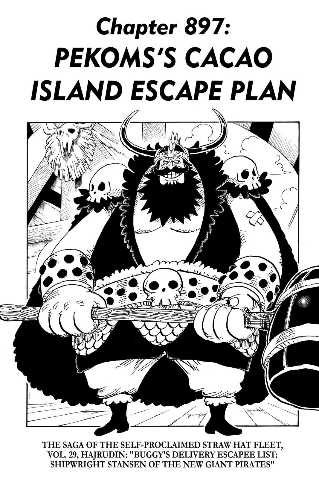 One Piece, Chapter 897 image 001
