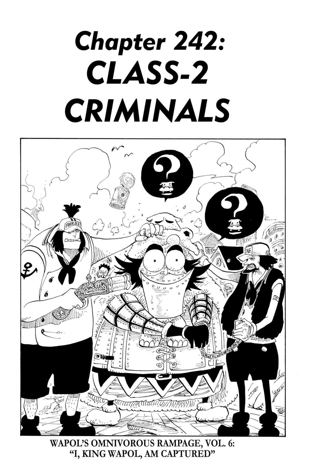 One Piece, Chapter 242 image 001
