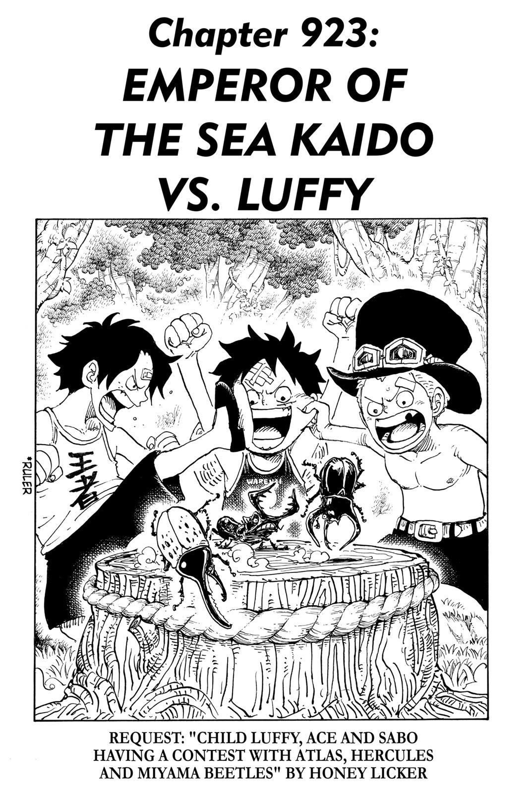 One Piece, Chapter 923 image 001