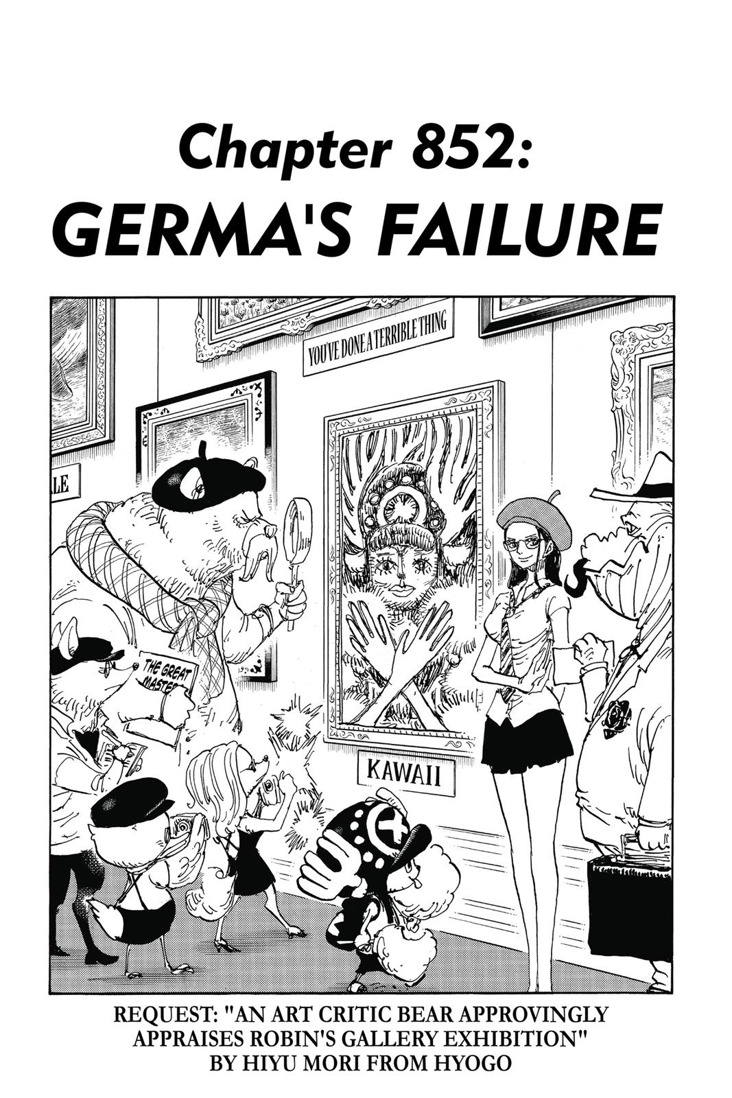 One Piece, Chapter 852 image 001