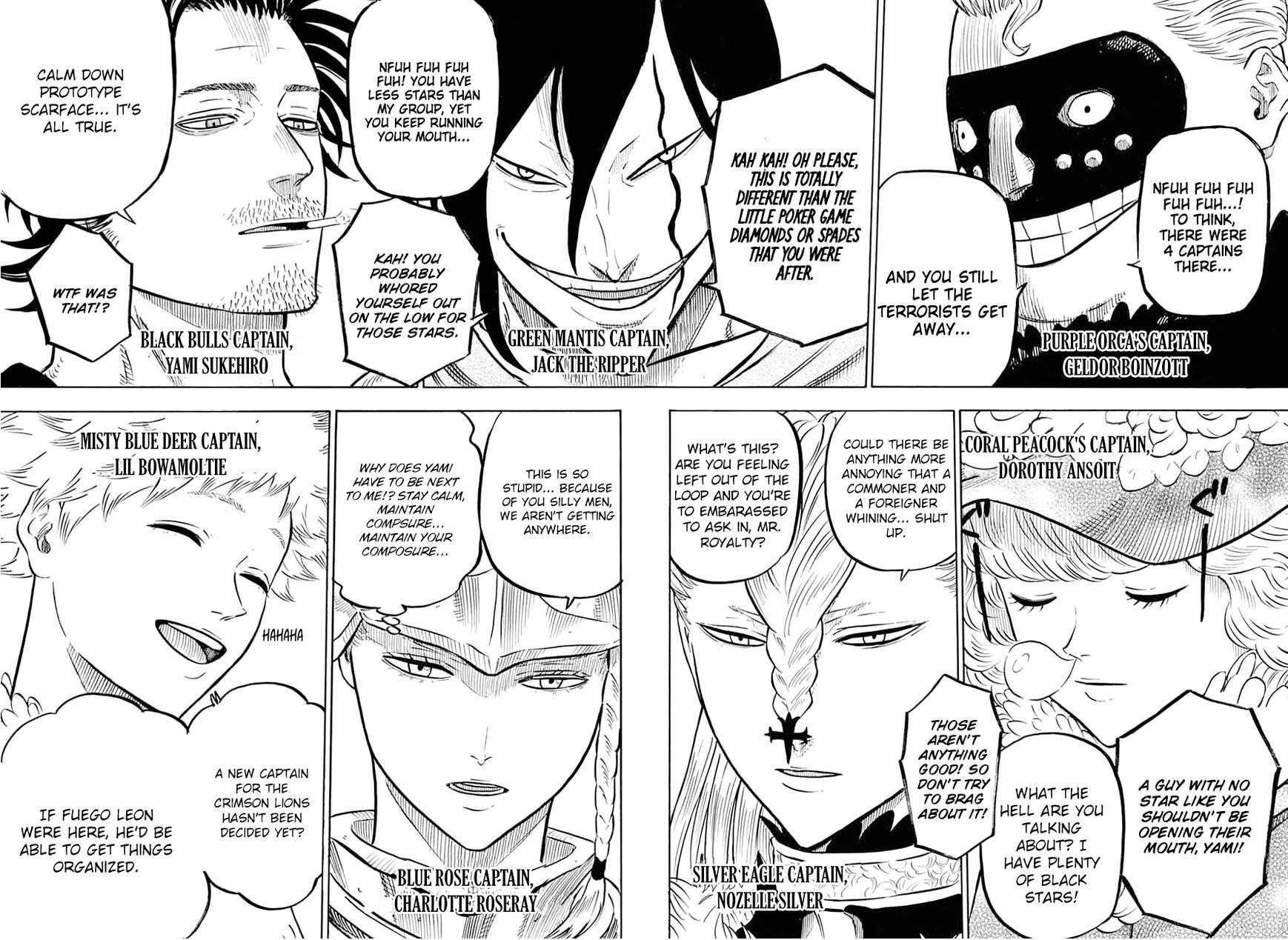 Black Clover, Chapter 54 A meeting of the magic knight captains image 008