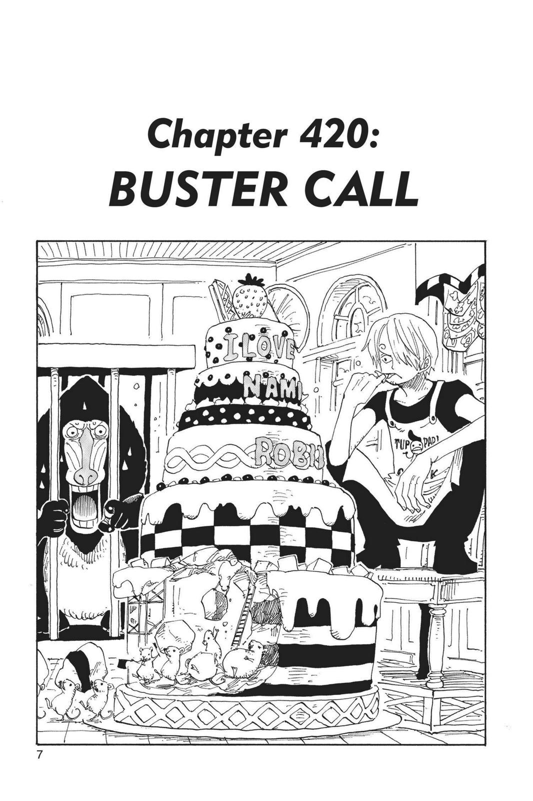 One Piece, Chapter 420 image 007